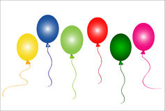 Colorful party balloons vector illustration