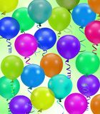 Colorful party balloons background Stock Image