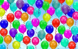 Colorful party balloons background Stock Photography