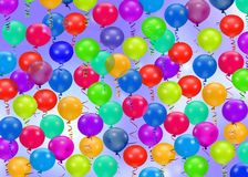 Colorful party balloons background Stock Images