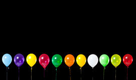 Colorful Party Balloons on Black Royalty Free Stock Photo