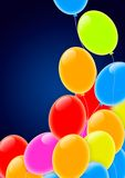 Colorful Party Balloons Flying into the Sky. Colorful party balloons flying into a blue sky Stock Photography