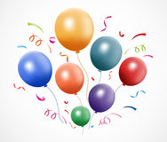 Colorful party balloons Royalty Free Stock Photos