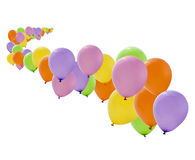 Colorful party balloons isolated Stock Photography