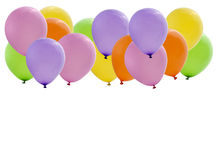 Colorful party balloons isolated Stock Photos