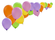 Colorful party balloons isolated Stock Image