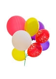 Colorful Party Balloons over white Stock Photo
