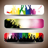 Colorful Party Banner Set Stock Images