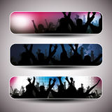 Colorful Party Banner Set - Vector Illustration royalty free illustration