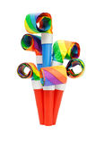 Colorful party blowers Royalty Free Stock Images