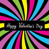 Colorful party card.  Happy Valentines day Stock Image