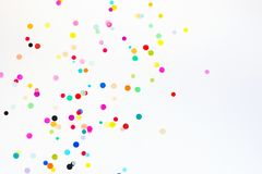 Colorful party confetti with copy space Stock Image