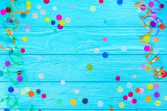 Colorful party confetti with copy space Stock Photography