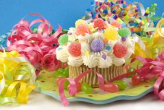 Colorful Party Cupcake royalty free stock image