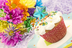 Colorful Party Cupcake Royalty Free Stock Photography