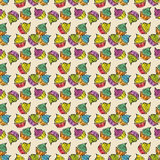 Colorful party cupcakes pattern Stock Photography