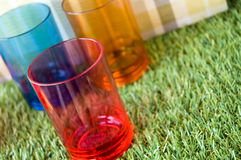 Colorful party cups Stock Photography