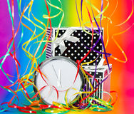 Colorful party decoration. rainbow background Royalty Free Stock Photo