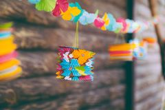 Colorful party decoration , can be used as baby shower, gender reveal and other party concept Stock Photography
