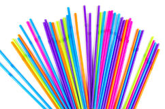 Colorful party drinking straws Stock Images
