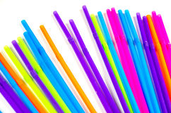 Colorful party drinking straws Stock Photo