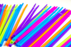 Colorful party drinking straws Stock Photography