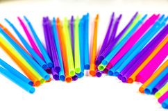 Colorful party drinking straws Royalty Free Stock Photo