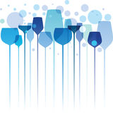 Colorful Party Drinks royalty free illustration