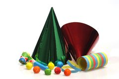 Colorful party goods Stock Photos