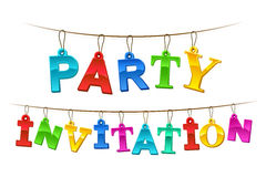 Colorful Party Invitation banner or card design Royalty Free Stock Photos