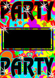 Colorful party invite Royalty Free Stock Images