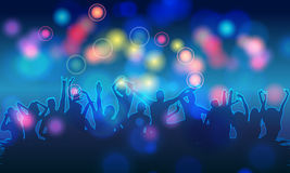 Colorful party people silhouettes Royalty Free Stock Photography