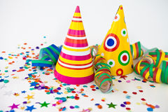 Colorful party props Royalty Free Stock Photo