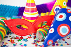 Colorful party props Royalty Free Stock Image
