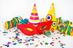 Colorful party props Royalty Free Stock Images