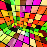 Colorful Party Room. Abstract disco party room in bright and colorful mosaic of tiles royalty free illustration