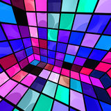 Colorful Party Room. Abstract disco party room in colorful mosaic of tiles vector illustration