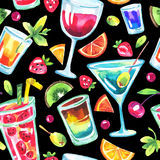 Colorful party seamless pattern. Royalty Free Stock Photography