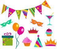 Colorful party set Stock Photography