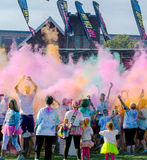 Colorful after party at the south bend color run Stock Photography