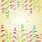 Colorful Party Steamer Background Royalty Free Stock Photo