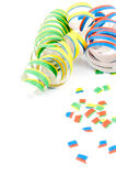 Colorful party streamers Stock Image