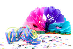 Colorful party streamers Royalty Free Stock Photography
