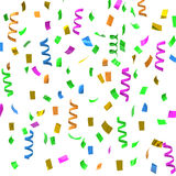 Colorful party streamers, 3d Stock Photo