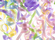 Colorful Party Streamers on White Stock Photo