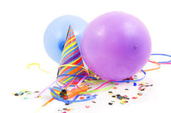 Colorful party stuff decoration Royalty Free Stock Images
