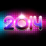Colorful party style new year Stock Image