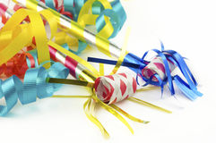 Colorful Party Supplies Royalty Free Stock Photography