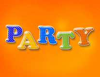 Colorful Party Theme Letters Stock Photo
