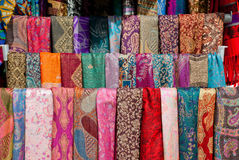Colorful pashmina scarves in Mostar Stock Image